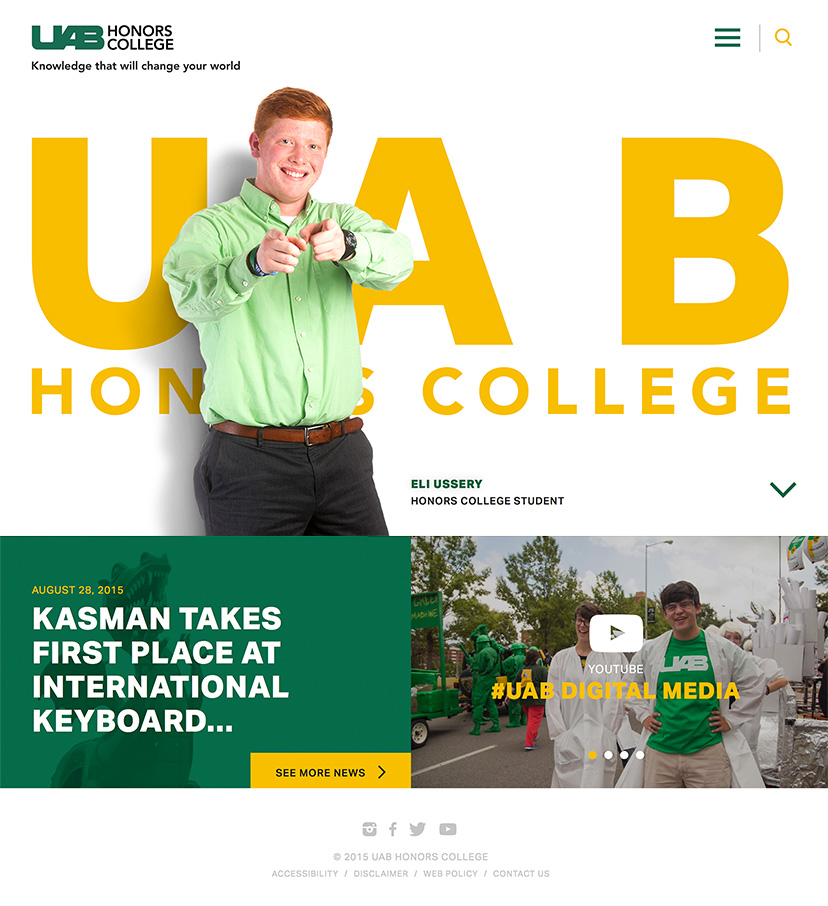 UAB Honors College Homepage